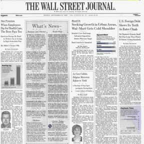 The Wall Street Journal is listed (or ranked) 1 on the list The Best U.S. Newspapers
