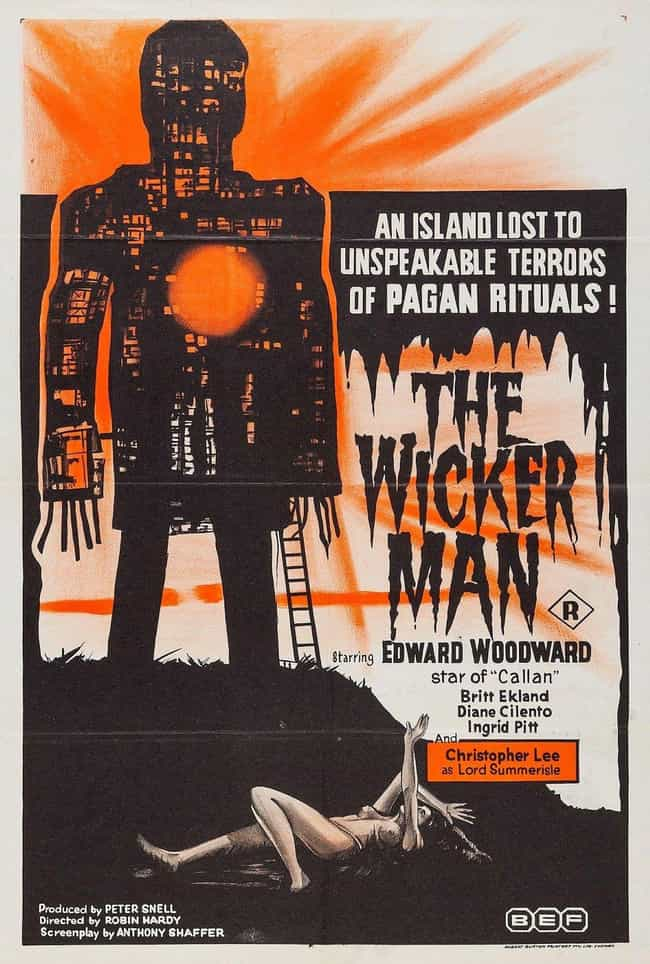 The Wicker Man is listed (or ranked) 4 on the list 14 Movies Tim Burton Has Given His Personal Stamp Of Approval