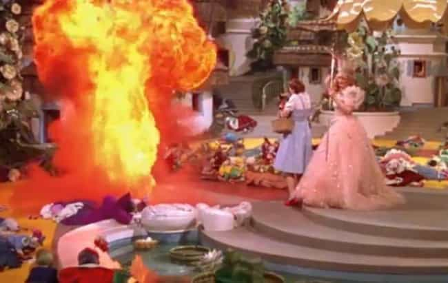 The Wizard of Oz is listed (or ranked) 4 on the list Stunts That Went Wrong And Still Made The Final Cut