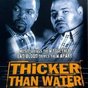 Thicker than Water is listed (or ranked) 16 on the list The Best '90s Hip Hop Movies