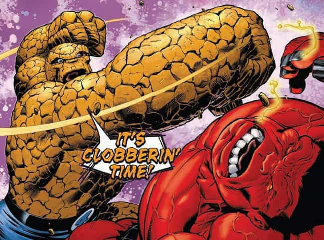 Thing is listed (or ranked) 3 on the list The Best Superhero Catchphrases in Comics