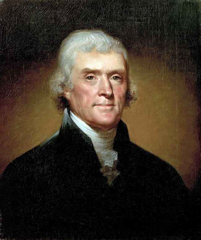 Thomas Jefferson is listed (or ranked) 2 on the list 7 Presidents Who Were Way Poorer Than You Realize