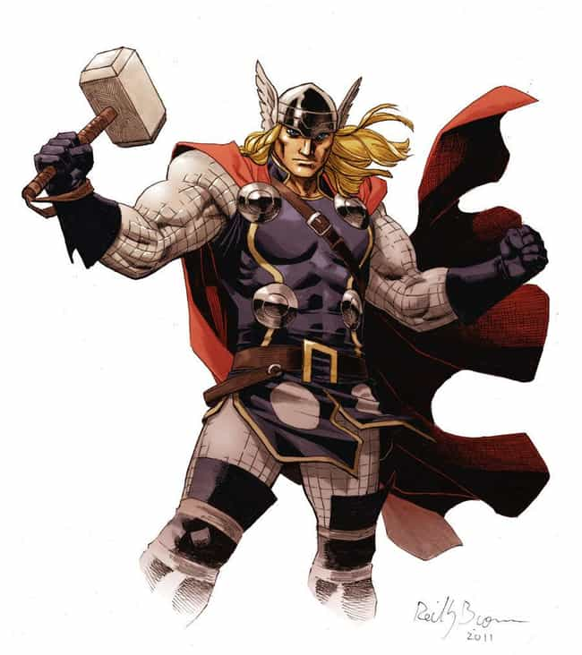 Thor is listed (or ranked) 4 on the list The Hottest Male Comic Book Characters