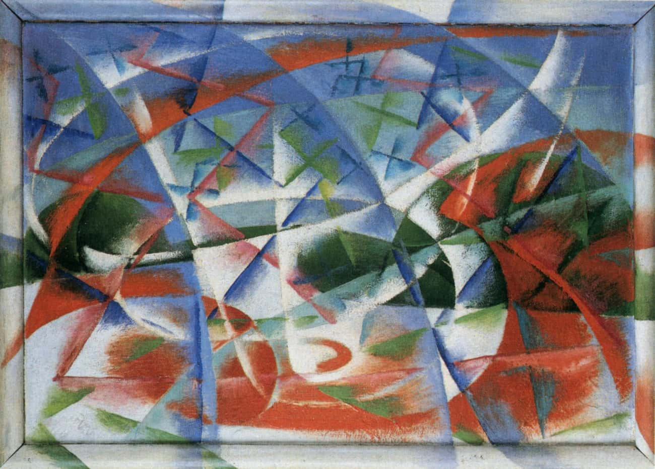 Abstract Speed + Sound is listed (or ranked) 1 on the list Famous Futurism Artwork