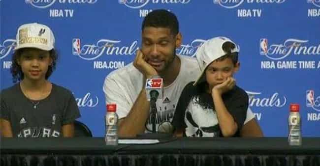 Tim Duncan is listed (or ranked) 4 on the list Adorable Pictures of NBA Players Caught Being Dads