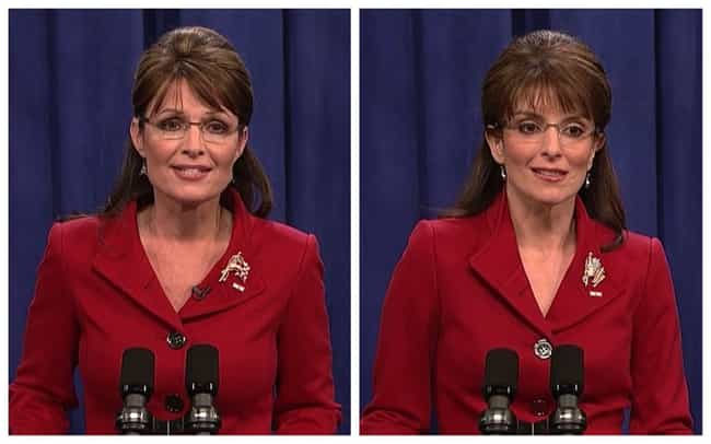 Tina Fey is listed (or ranked) 1 on the list 21 Real Politicians Vs Their 'SNL' Impressions