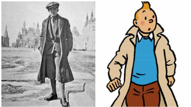 Tintin is listed (or ranked) 3 on the list 15 Comic Book Characters Based On Real People