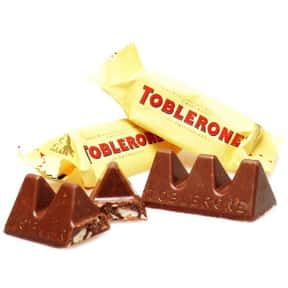 Toblerone is listed (or ranked) 4 on the list The Best Chocolate Bars