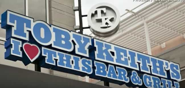 Toby Keith is listed (or ranked) 2 on the list Country Singers Who Own Restaurants