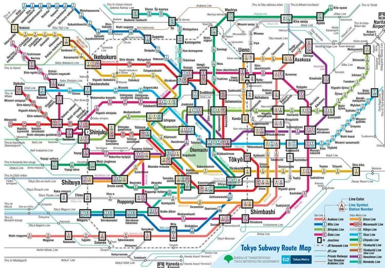 The Tokyo Metro Operates 122 Miles Of Track