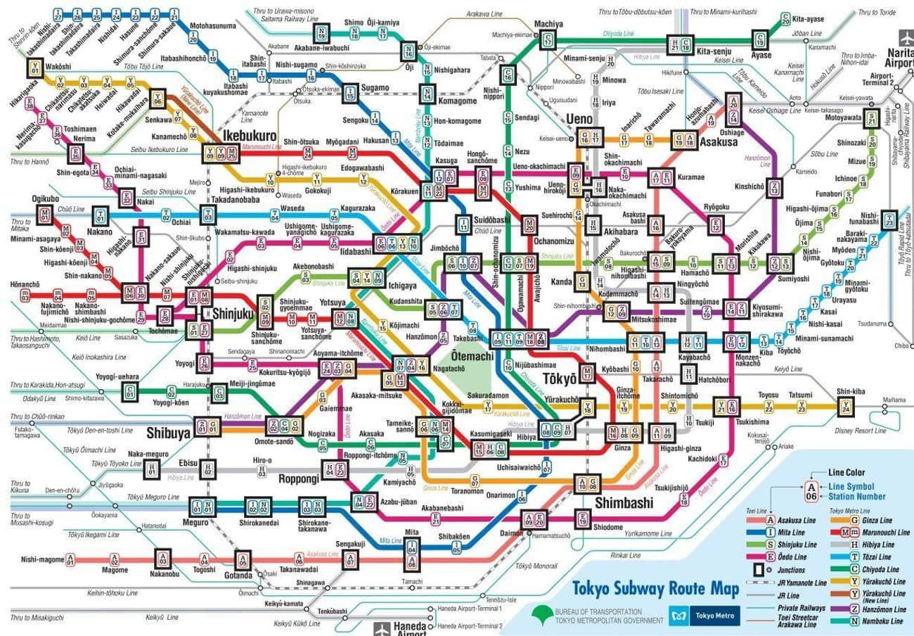 The Tokyo Metro Operates 122 Miles Of Track
