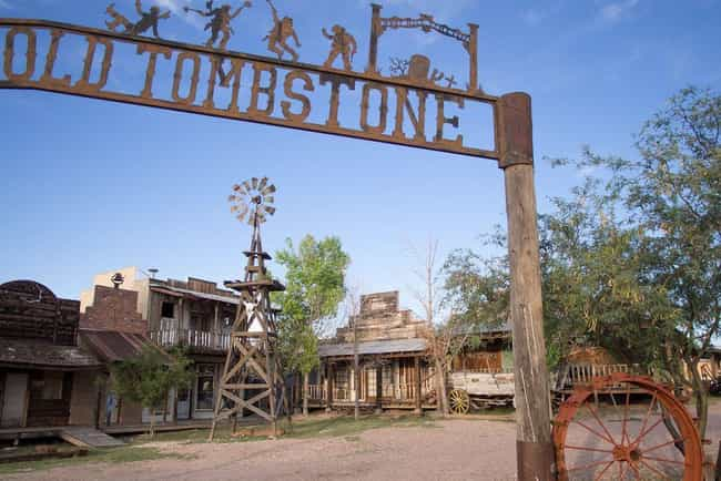 Tombstone is listed (or ranked) 3 on the list America's Coolest Ghost Towns