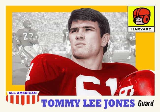 Tommy Lee Jones is listed (or ranked) 3 on the list 34 Celebrities Who Played High School Football