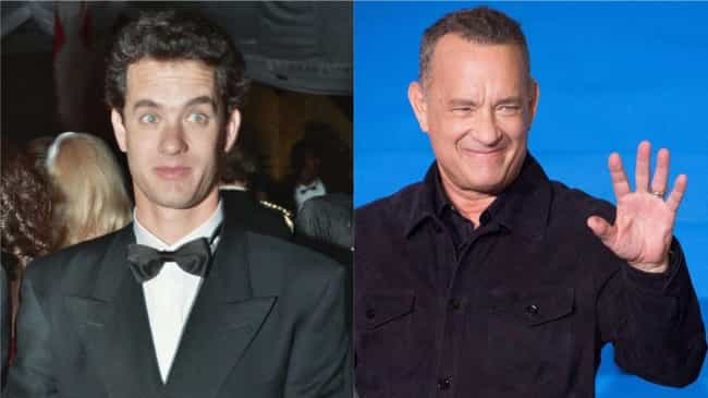 Tom Hanks is listed (or ranked) 1 on the list How 30 A-Listers Changed Over Time