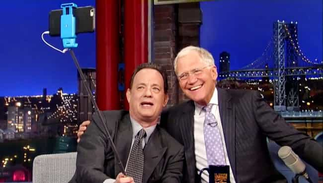 Tom Hanks is listed (or ranked) 1 on the list Celebrities Caught Using Selfie Sticks