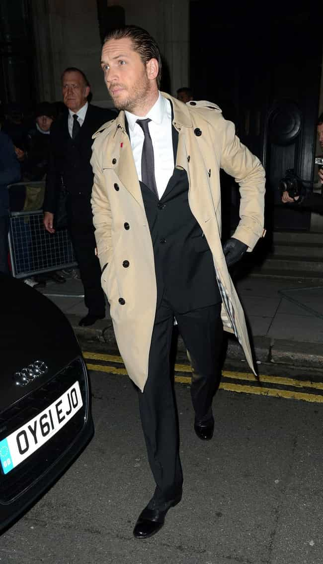Tom Hardy is listed (or ranked) 3 on the list The Best Dressed Male Celebrities