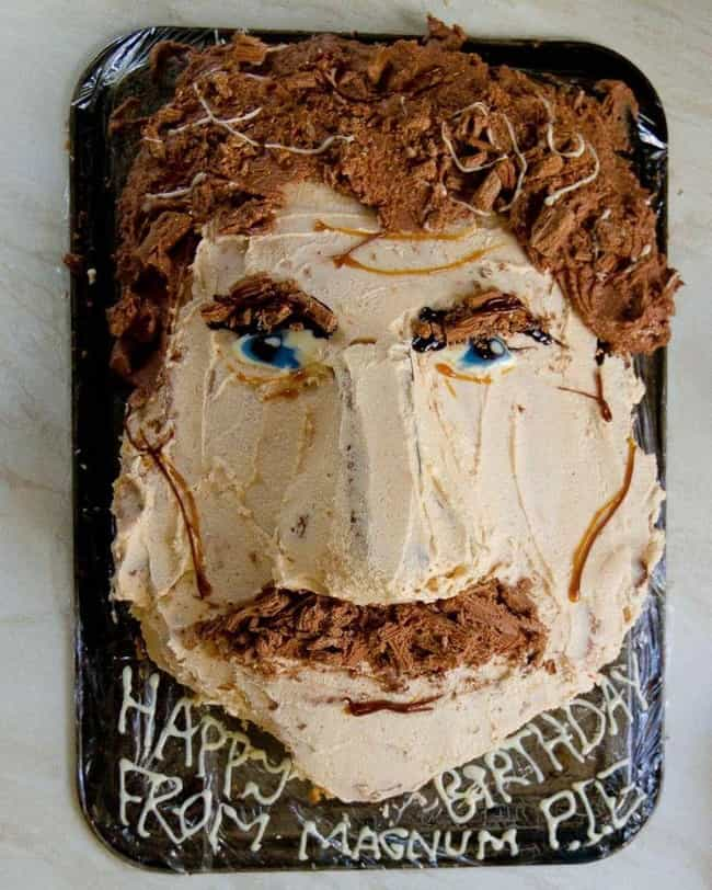Tom Selleck is listed (or ranked) 4 on the list 17 Celebrity Face Cakes That Don't Look Quite Right