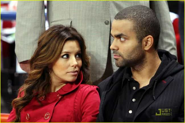 Tony Parker is listed (or ranked) 4 on the list Eva Longoria's Loves & Hookups
