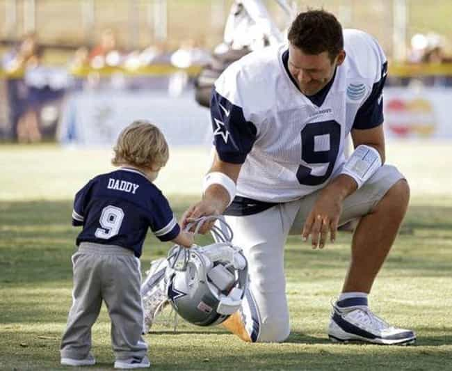 Tony Romo is listed (or ranked) 3 on the list Adorable Pictures of NFL Players Caught Being Dads