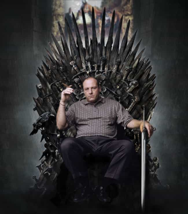 Tony Soprano is listed (or ranked) 6 on the list 26 Famous People Sitting On The Iron Throne