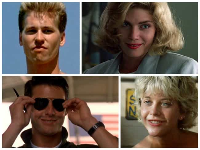 Top Gun is listed (or ranked) 1 on the list The Sexiest Movie Casts from the 80s