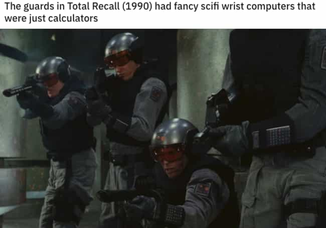 Total Recall is listed (or ranked) 3 on the list High-Tech Movie Props That Are Secretly Everyday Objects