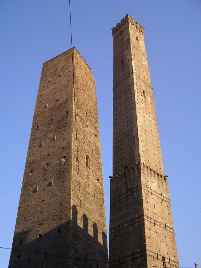 Two Towers of Bologna is listed (or ranked) 4 on the list 10 Famous Buildings That Are Leaning (And Aren't In Pisa)
