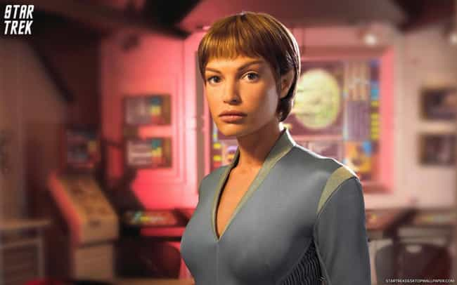 T'Pol is listed (or ranked) 2 on the list The Most Beautiful Women to Appear on Star Trek