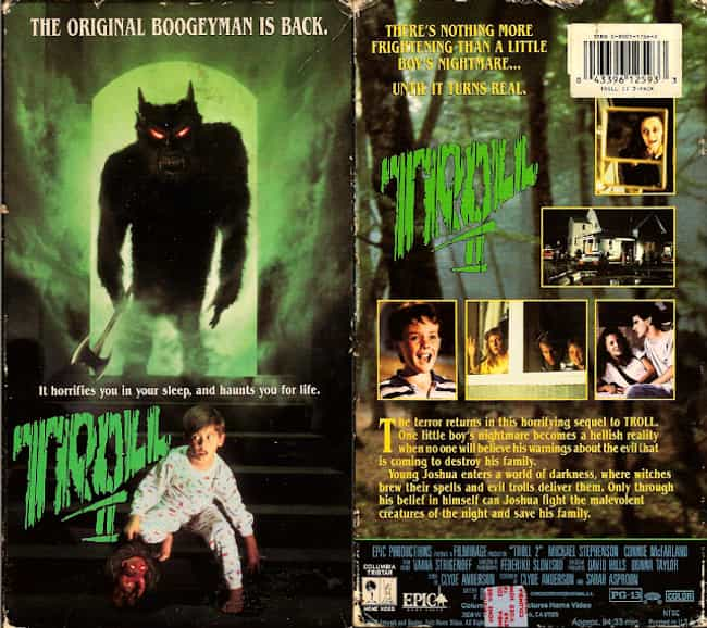 Troll 2 is listed (or ranked) 1 on the list VHS Covers That Sold A Totally Different Movie