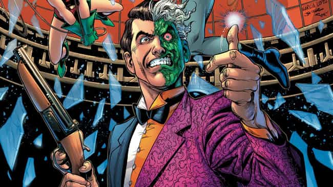 Harvey Dent is listed (or ranked) 2 on the list Every Batman Villain Is Just A Reflection Of The Caped Crusader's Damaged Mind