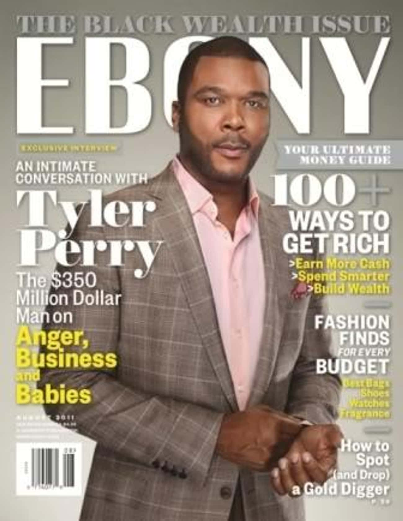 Tyler Perry is listed (or ranked) 1 on the list The Best Ebony Covers