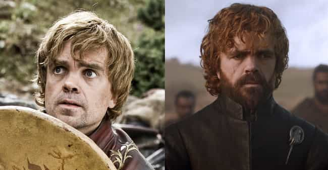 Tyrion Lannister is listed (or ranked) 1 on the list Game Of Thrones Characters Then And Now