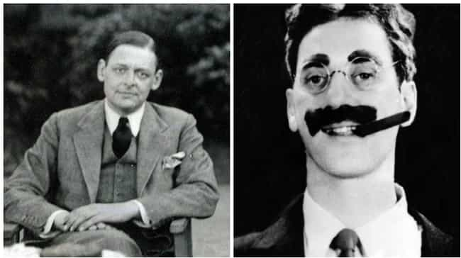 T. S. Eliot is listed (or ranked) 8 on the list 13 Extremely Unexpected Friendships Between Historical Figures