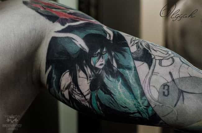 Ulquiorra is listed (or ranked) 4 on the list 25 Incredible Anime Villain Tattoos For Those With A Dark Side