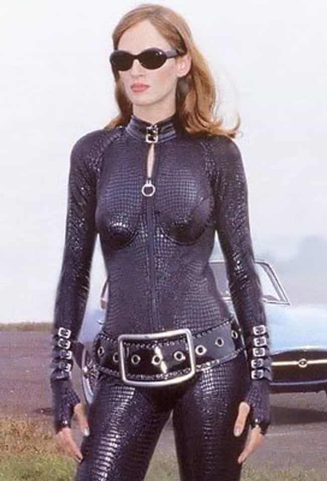 Uma Thurman is listed (or ranked) 2 on the list Catsuits