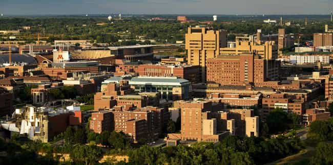 University of Minnesota is listed (or ranked) 4 on the list The Largest Campuses in the US