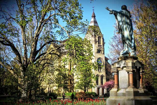 University of Notre Dame is listed (or ranked) 4 on the list Midwest Colleges Ranked: Ivies and Little Ivies