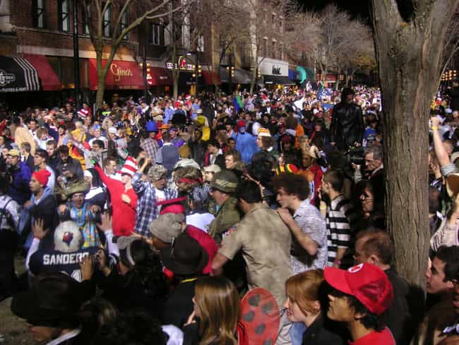 University of Wisconsin-... is listed (or ranked) 2 on the list The Greatest College Halloween Celebrations in America