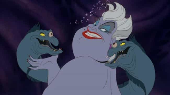 Ursula is listed (or ranked) 4 on the list 10 Disney Villains Who, Let's Face It, Are Probably Gay