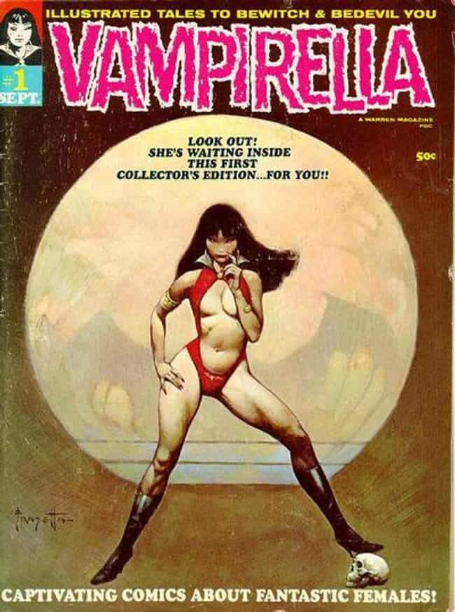 Vampirella is listed (or ranked) 4 on the list The Most Popular Female Vampires