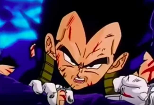 Vegeta is listed (or ranked) 4 on the list The 15 Greatest Anime Speeches of All Time