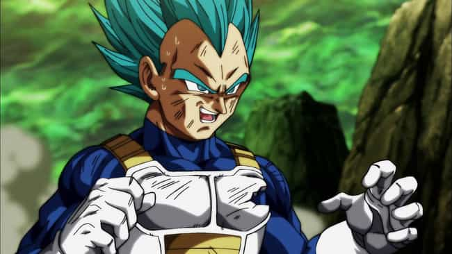 Vegeta is listed (or ranked) 3 on the list 15 Super Tough Anime Characters Who Aren't Afraid of a Fight