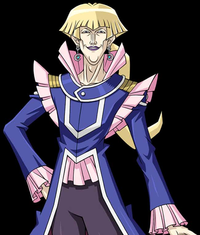 Vellian Crowler is listed (or ranked) 3 on the list 14 Anime Characters With Terrible Fashion Sense