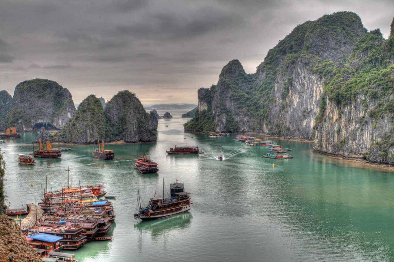 Vietnam is listed (or ranked) 4 on the list The Most Beautiful Countries in Asia
