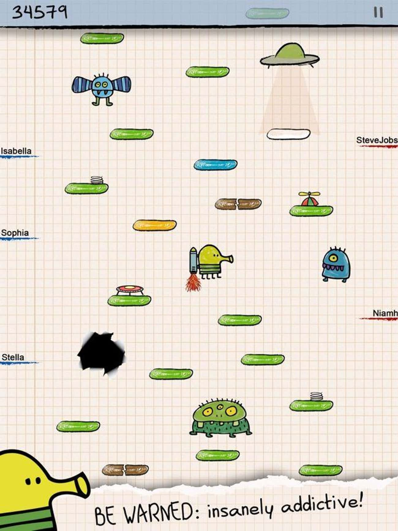 Doodle Jump is listed (or ranked) 1 on the list The 22 Best Mobile Jumping Games