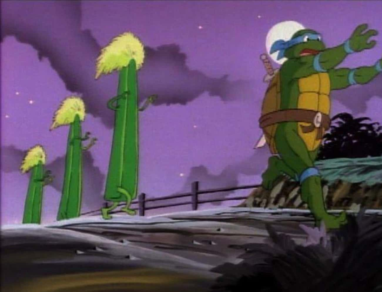 Unidentified Flying Leonardo is listed (or ranked) 4 on the list Teenage Mutant Ninja Turtles Episodes That Are Even Weirder Than You Remember