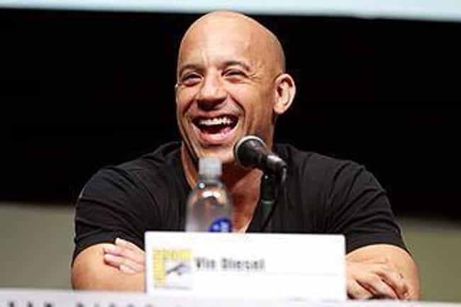 Vin Diesel is listed (or ranked) 4 on the list 20 Celebrities Rocking the Bald Look