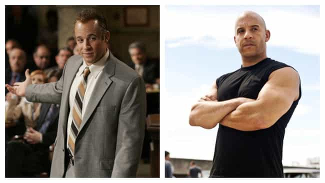 Vin Diesel is listed (or ranked) 1 on the list Hairpieces On Iconically Bald Actors, Ranked By Degree Of Blasphemy