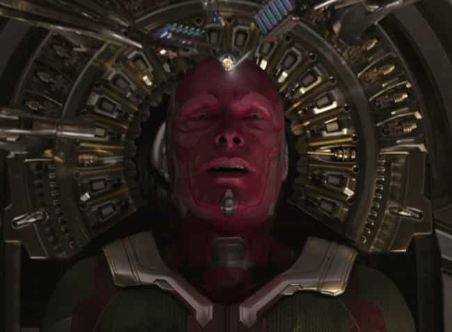 Vision is listed (or ranked) 4 on the list The Wisest Characters In The MCU