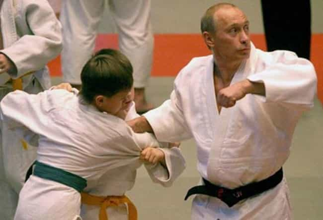Vladimir Putin is listed (or ranked) 4 on the list 28 Celebrities Who Are Black Belts
